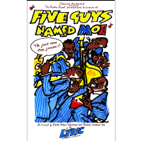 Five Guys Named Moe Lyric Theatre Poster